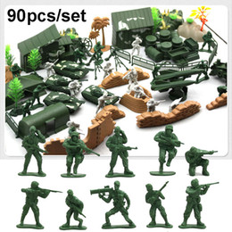 Plastic Military Battle Soldier Action Figure Model Set Toy Men Sandbox Game Corps Ship Tanks Accessories Suit Adults Toys Gift To Enjoy High Reputation At Home And Abroad Action & Toy Figures