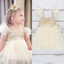 Sequin Toddler Visuel Robes Pas Cher Pas Cher-Sequins Flower Girls Robes Pour Mariages 2017 Cute Custom Made Pas Cher Communion Robes Toddler Pageant Robes