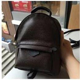 Venta al por mayor de Hight calidad Palm Springs Backpack Mini cuero genuino niños mochilas mujeres impresión mochila de cuero M41560