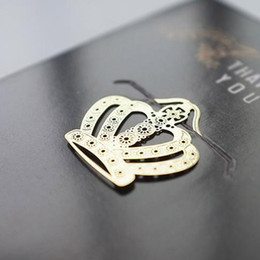 Fashion 18K Gold Plated Bookmarks Wedding Golden Metal Paragraph Creative Bookmarks Wedding Supplies Golden Key Palm Tree Crown on Sale