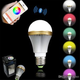 $enCountryForm.capitalKeyWord NZ - High Bright RGB Wireless Bluetooth Smart LED Light Bulb E27 5W RGBW Bulb for Android and for iOS AC85-265V
