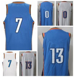 018c4a20a763 ... 17-18 New Style 13 Paul George Jersey Men 7 Carmelo Anthony 0 Russell  Westbrook ...