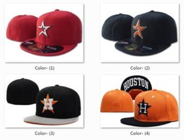 fde56fbb53cf Wholesale Houston Astros Fitted Hat Black Baseball Snapback Men's MLB  Baseball Cap Cool Base Flat Brim Hip Hop Size Caps With Box