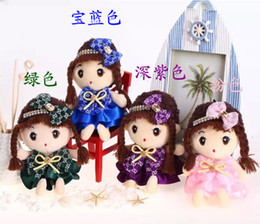 Lovely Doll Silicone Canada - The new listing 18 cm and girl lovely high-grade fe son baby doll ever and plush toys