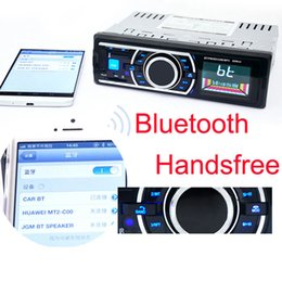 bluetooth car audio remote Canada - Bluetooth Car Radio Stereo 1 DIN InDash Auto FM Aux In Receiver Audio MP3 Player Support SD USB + Remote Control CAU_00A