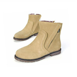 $enCountryForm.capitalKeyWord Canada - plus size 34-43 Autumn Winter Women Boots Solid European Ladies shoes Martin boots Suede Leather ankle boots with thick scrub