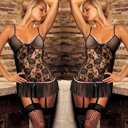 hot sex products women Canada - Black sexy costumes Women Nightwear Fancy Underwear 2017 sexy lingerie women hot erotic lingerie Costumes intimates Sex Products