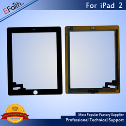 For iPad 2 Black Touch Screen Digitizer Replacement with Home Button+ Adhesive & Free DHL shipping on Sale