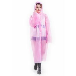 Chinese  Disposable Raincoat One-time with Hat Raincoats Poncho PE Rainwear Travel Rain Coat Rain Wear Travel Rain Coat One Time Adult PEVA manufacturers
