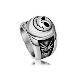$enCountryForm.capitalKeyWord UK - Men's vintage skull pattern stainless steel rings roman alphabet titanium steel metal mixed rings jewelry accessories