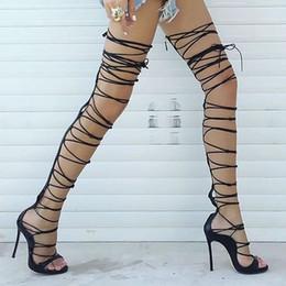 Discount Gladiator Sandals Heels Thigh | 2017 Gladiator Sandals ...