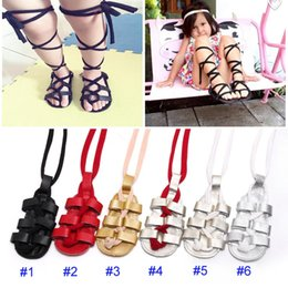 Discount tied shoes - 2017 New Baby INS Genuine Cow Leather Moccasins shoes Soft bottom infant Roman sandals newborn baby Cross-tied First Wal