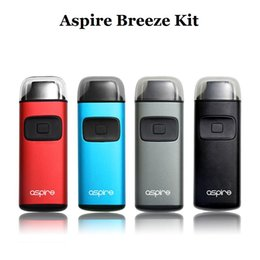 Barato Você É O Kit De Ponta-Original Aspire Breeze Start Kit 2ml Capacidade Built-in 650mAh Bateria TPD U-tech 0.6ohm Reconstrução Aspire Breeze Coil vape Drip Tip Case