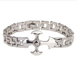 $enCountryForm.capitalKeyWord Canada - New Arrivals Titanium Steel Christian Cross Crucifix 19cm Long Chain Bracelets Bangles Fashion Mens Jewelry Festive Hot Gift