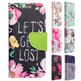 Discount flower leather flip phone case For iPhone X 10 Flower Diary Leather Case Flip Phone Cover with Card Slots Money Pouch for iPhoneX iPhone10 LUXMO