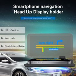 $enCountryForm.capitalKeyWord Australia - Car Hud Head Up Display Car Holder CellPhone Stander Universal for Mobile Cell Phone GPS Navigation Image Reflector Projector