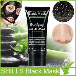 Black Peel Off Mask Blackhead Canada - SHILLS Deep Cleansing purifying peel off Black mud Facail face mask New Blackhead Removal facial mask 50ml