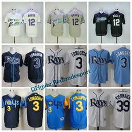 5853a2389 ... Throwback Tampa Bay Rays 12 Wade Boggs Turn Back Cooperstown Black  White Baseball Jerseys 3 Evan