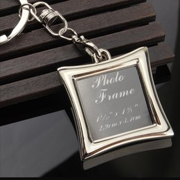 Free Gift Picture NZ - 2017 Wholesale Vogue Insert Photo Picture Frame Custom Keyring Key Ring Keychain Lover DIY Gift high quality free shipping