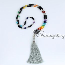 $enCountryForm.capitalKeyWord UK - 7 chakra necklace with tassel buddha necklace meditation beads mala bead spiritual jewelry necklace mala bracelet chakra healing jewelry