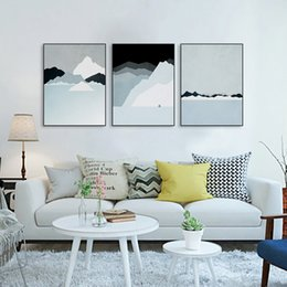triptych modern abstract landscape canvas a4 art print poster iceland wall pictures living room home decor paintings no frame triptych wall art modern for
