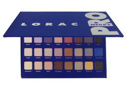 lorac mega pro eyeshadow 2021 - Professional shimmer LORAC MEGA PRO 2 blue Palette 32 Color nake Eyeshadow LORAC Eye shadow Palette Makeup Set cosmetics 12pcs lot DHL
