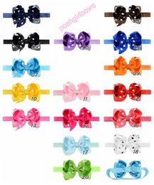 $enCountryForm.capitalKeyWord Australia - free shipping 30pcs 4.5'' Children Bowknot ribbon Elastic Headband Baby Kids Headband Cute Ribbon Polka Dot Girl Hair Bow Accessories