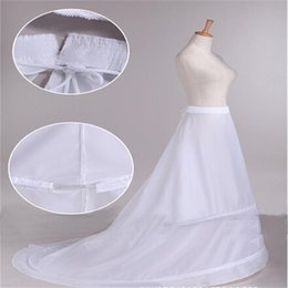 $enCountryForm.capitalKeyWord Canada - New Arrival Bride Petticoats with Train White 2 Hoops Long Formal Dress Underskirt Crinoline Stock Wedding Accessories