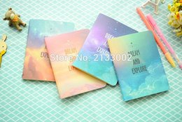 Wholesale Notebook Exercise Books Canada - Fantastic Galaxy Star Sky A6 Notebook Diary Book Exercise Composition Notepad Escolar Papelaria Gift Stationery For Girl