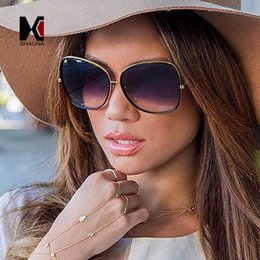 $enCountryForm.capitalKeyWord Canada - Wholesale- SHAUNA Classic Women Oval Sunglasses Brand Designer Fashion Oversize Frame Mirror Lens Sun Glasses UV400
