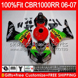 Pink Honda Repsol Cbr Australia - Injection Body For HONDA CBR 1000RR Repsol green CBR1000 RR 06 07 Bodywork 78NO28 CBR1000RR 06 07 CBR 1000 RR 2006 2007 Fairing kit 100% Fit
