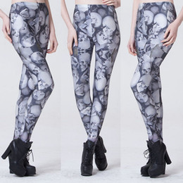 Skeleton Yoga Pants Canada - 3D starry sky digital print skull and skeleton peony flower sexy leggings pant fashion yoga pants