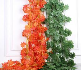 Discount flower ceiling decorations - Simulation flower vine vine leaves leaf green home wedding ceiling decoration fake rattan vines