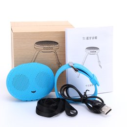 iphone stereo player NZ - 2017 T1 Bluetooth Stereo Smart Wear Watches Speakers Sound Waterproof outdoor subwoofer Small For iphone samsung HTC Speakers 30pcs