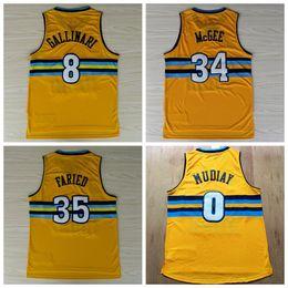 9004f1aca ... 0 Emmanuel Mudiay Throwback Basketball Jerseys Uniforms 8 Danilo  Gallinari 34 JaVale McGee Shirt New Rev ...