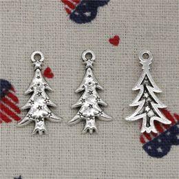 118pcs Charms der Weihnachtsbaum 28 * 14mm Antik Silber / Bronze Anhänger Zink-Legierung Schmuck DIY Hand Made Armband Halskette Montage im Angebot