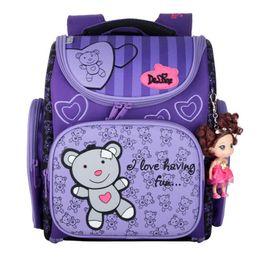 $enCountryForm.capitalKeyWord Canada - Fashion School Bags for Girls Children Orthopedic Backpacks High Quality Cartoon Bear SchoolBags for kids Bags Mochila Infantil