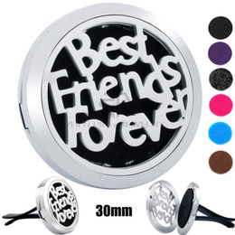Best magnets online shopping - New Silver Best Friends Forever mm Magnet Diffuser Stainless Steel Car Aroma Locket Essential Oil Car Diffuser Lockets