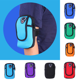 armband sports bag case pouch Canada - 4-6 inch For Universal Phone Cover Case Armband Bag Runner Outdoor Sport Hiking Arm Wallet Pouch Waterproof Unisex Multifunction Pack