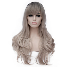 HealtHy wigs online shopping - Long Curly Fluffy Healthy Full Wigs with Bangs for Women Ladies Heat Resistance Cosplay Wig Party Costume Wigs Peruca Perruque