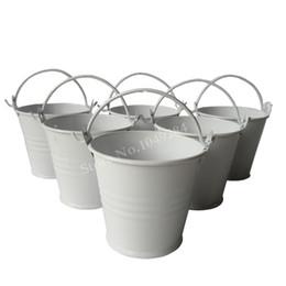 $enCountryForm.capitalKeyWord UK - D6*H5CM white Metal mini Pail Tin bucket Rustic Succlents Pots Decorative Galvanized Meat plant pot Iron pots Party Favor