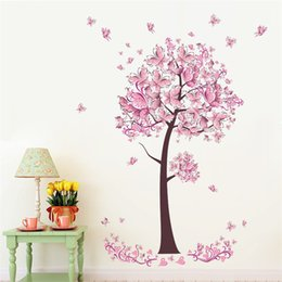 Creative DIY 3D Wall Sticker Horse For Kids Room Carved Removable  Kindergarten Stickers Pink Butterfly Tree Pvc Decorating 2017 Wholesale