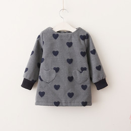 Robes Coeur Pour Bébé Pas Cher-Everweekend Kids Girls Sweet Heart Bébé Cute Lovely Holiday Dress Western Enfants Filles Gris Rouge Couleur Nouvelle Robe