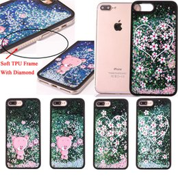 Original Iphone Cases Canada - For iphone 6 6S 7 Case Rhinestone Glitter Silicone Cover Original For iphone 7 Plus Luxury Bling Diamond Soft TPU + Hard PC Shell 4.7&5.5