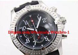 5830f4b874b1 Al por mayor - Nuevo estilo Plateado Dial Negro Caucho lobo de mar  Cronógrafo Cinturón para hombre Blanco Inoxidable Puntero del reloj  Deportes de los ...
