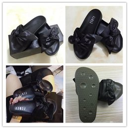 new products 8734a 9bc0a Rihanna Leadcat Fenty Bow Slides Canada | Best Selling ...