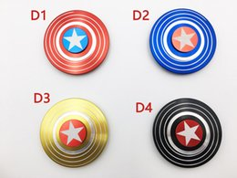 Captain ameriCa shield hand spinner online shopping - Super Heroes Fidget Spinner America Captain Shield Marvel Finger hand Spinners AL Alloy Metal Toy Tri decompression toys Puzzle beyblade