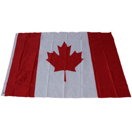 China free shippingNew 90cmx150cmCanada National Flags 3*5 feet Large Canadian Flags Polyester Canada Maple Leaf Banner Outdoor flags suppliers