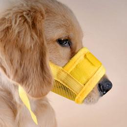 $enCountryForm.capitalKeyWord Australia - Pet Dog Adjustable Mask Bark Bite Mesh Nylon Safety Mouth Muzzle Grooming Anti Stop Chewing Free Shipping ZA3953