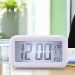 $enCountryForm.capitalKeyWord NZ - Time Date Alarm Clock Temperature Display LED Alarm Clock Light-activated Sense Snooze Function Calendar Digital Clock Reveil